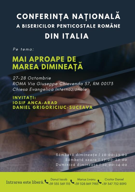 Conferinta Nationala a Bisericilor Penticostale Romane din Italia
